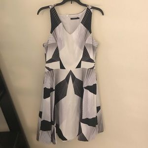 Gorgeous Black and White Office Dress